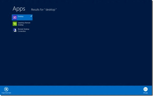 Restore Missing Desktop Tile On Start Screen In Windows 8 Step3