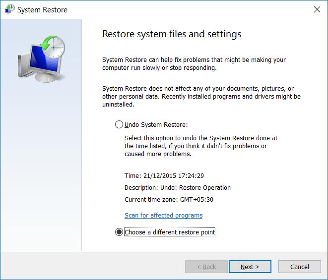 Restaurar Windows 10 a un paso de fecha anterior4