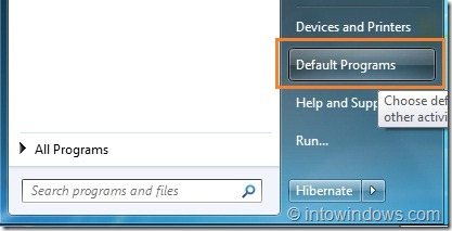 Restaurar las asociaciones de archivos del Reproductor de Windows Media en Windows 7 step1