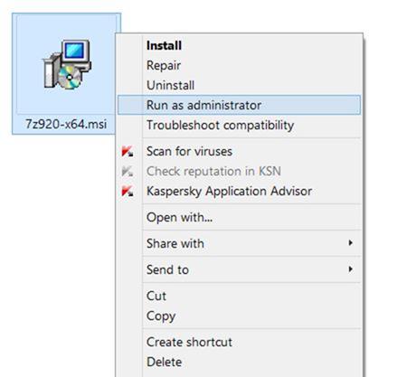 Ejecutar archivos MSI como administrador