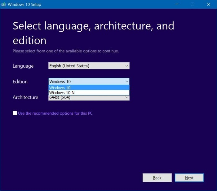 Seleccionar la edición de Windows 10 Pro durante la instalación de Windows 10 step001