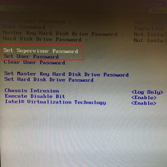 Establecer bios o contraseña UEFI en Windows 10 pic2