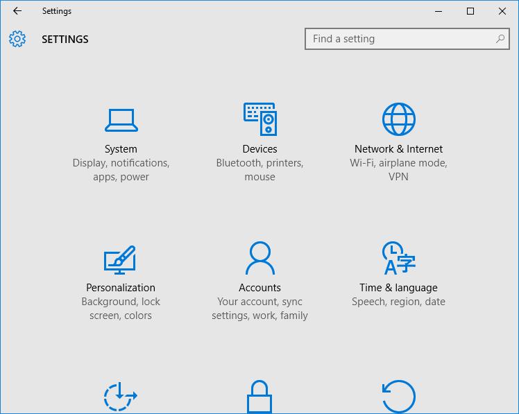 Configuración de la aplicación que no se abre en Windows 10