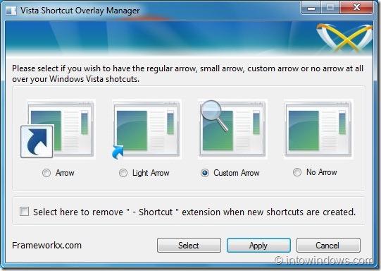 Icono de superposición de flecha de acceso directo en Windows 7