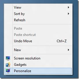 Show Computer Icon on Desktop In Windows 8 Step1