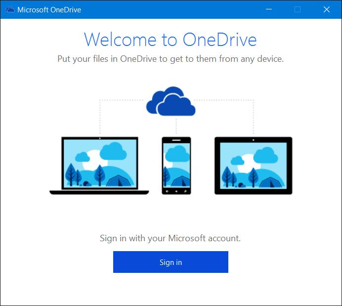 Salir de OneDrive en Windows 10 Paso 5