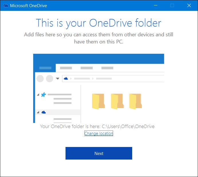 Salir de OneDrive en Windows 10 Paso 7