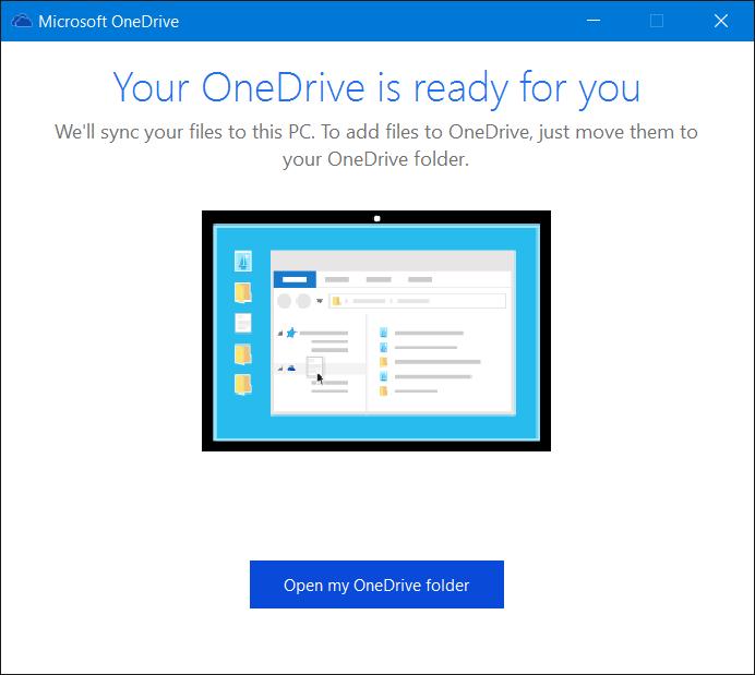 Salir de OneDrive en Windows 10 Paso 9