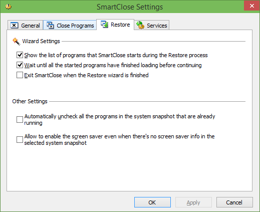 SmartClose to quickly close and open all programs picture4