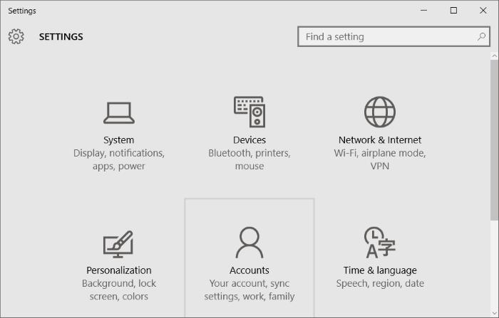 Cuenta estándar para la cuenta de administrador Windows 10 pic4