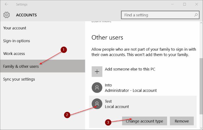 Cuenta estándar para la cuenta de administrador Windows 10 pic5