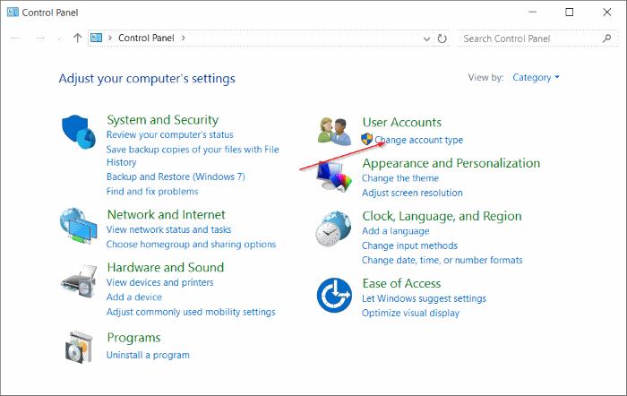 Cuenta estándar para la cuenta de administrador de Windows 10 pic7