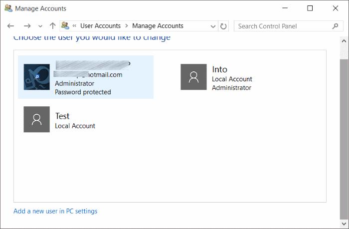 Cuenta estándar para la cuenta de administrador Windows 10 pic8