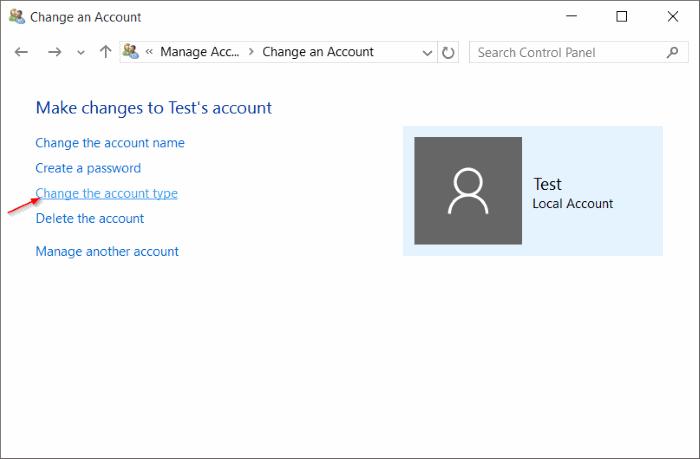 Cuenta estándar para la cuenta de administrador Windows 10 pic9