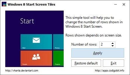 Start Screen Tiles