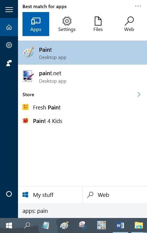 Filtros de búsqueda del menú Inicio en Windows 10 pic4