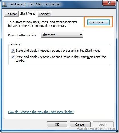 Cómo quitar el nombre de la cuenta de usuario del menú Inicio en Windows 7 pic3