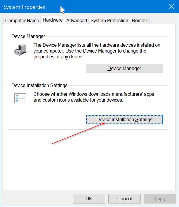 Impedir que Windows 10 instale automáticamente la aplicación de impresora y escáner pic1