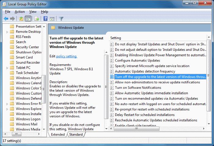 Detener la actualización a Windows 10 pic1