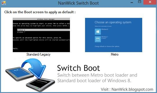 Switch Boot for Windows 8