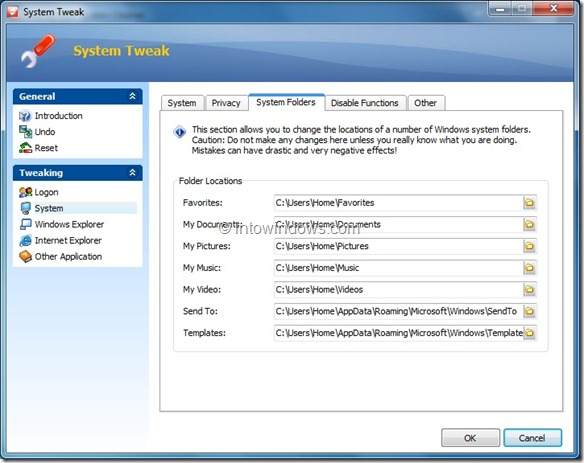 System Tewak in Weeny Free System Cleaner Tool