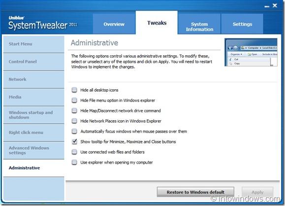 SystemTweaker 2011