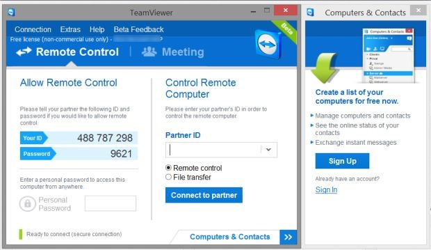 TeamViewer 9 free full version download.