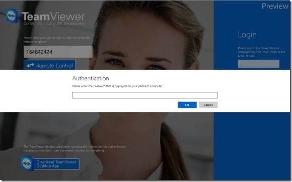 TeamViewer Touch For Windows 8 Picture1