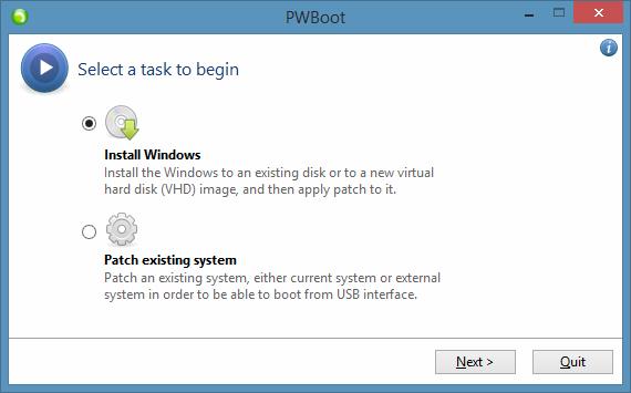 Probar Windows 8.1 sin instalar el paso 1
