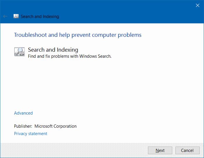 Estos resultados pueden ser mensajes incompletos en Windows 10 pic3
