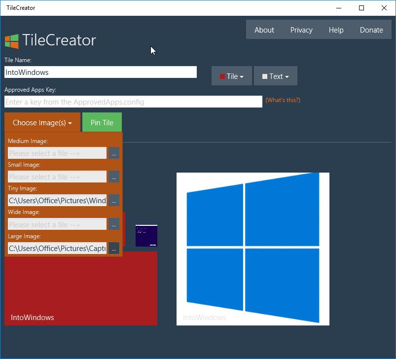 Tile Creator for Windows 10