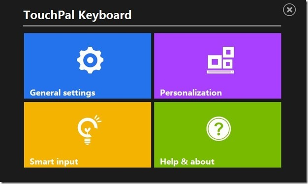 Touch keyboard for Windows 8 Picture1