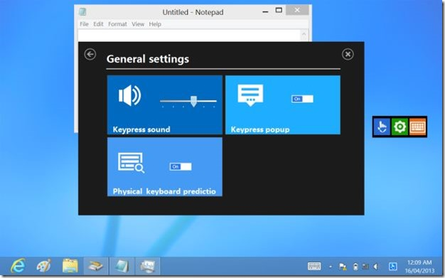 Touchpal keyboard for Windows 8 Picture6