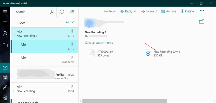 Transferir notas de voz del iPhone a Windows 10 PC 5.1
