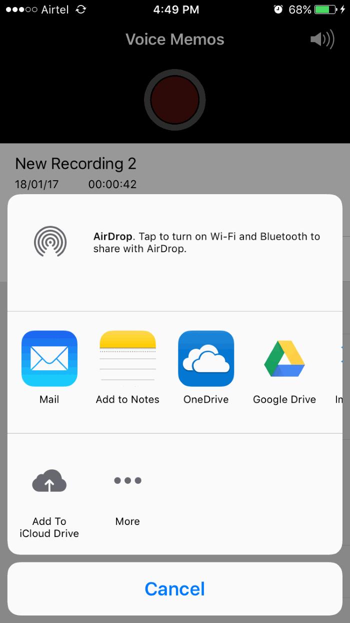 Transferir notas de voz del iPhone a Windows 10 PC 6