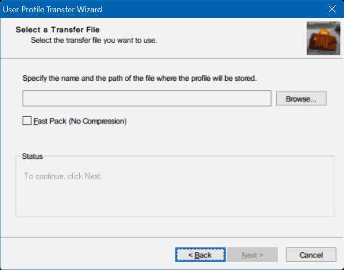 Transferir perfiles de usuario en Windows 10 step3