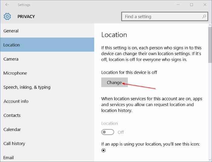 Activar Buscar mi dispositivo en Windows 10 step7