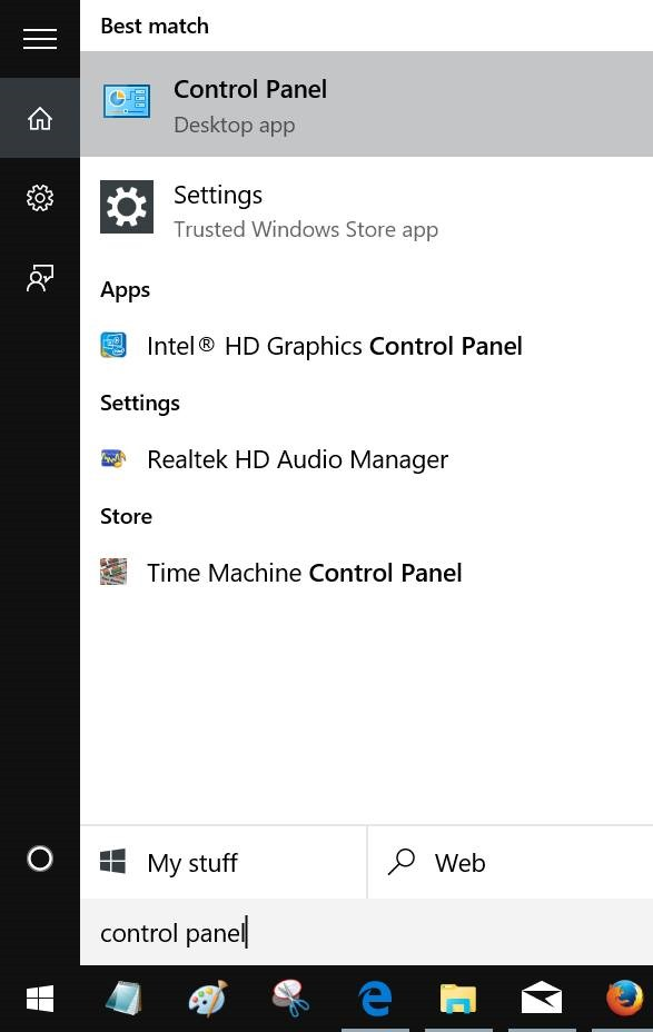 Activar o desactivar características en Windows 10 step1