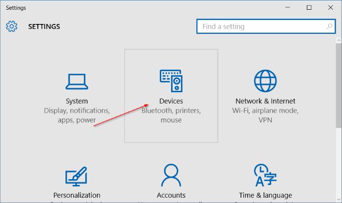 Activar o desactivar los gestos del panel táctil en Windows 10 pic2
