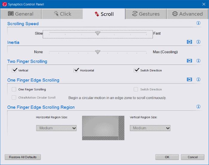 Activar o desactivar los gestos del panel táctil en Windows 10 pic9