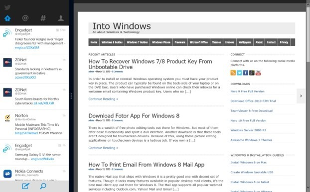 Twiiter app for Windows 8 Picture1