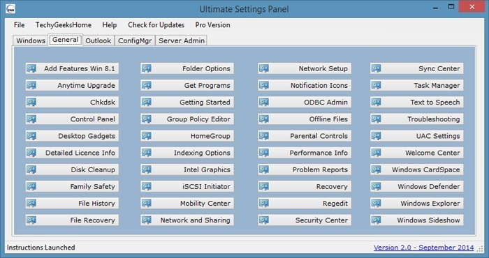Ultimate Settings Panel for Windows picture1