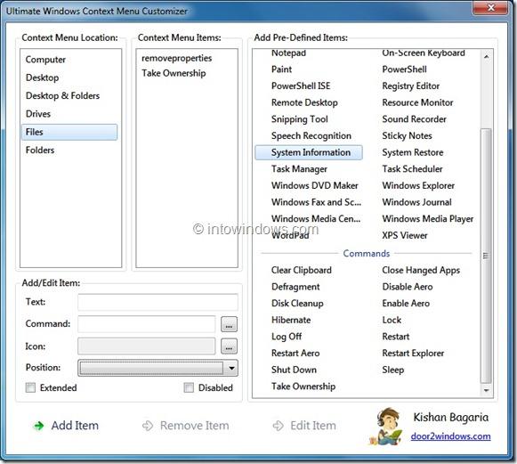 Ultimate Windows Context Menu Customizer
