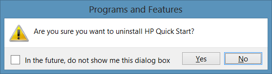 Uninstall HP Quick Start in Windows Picture2