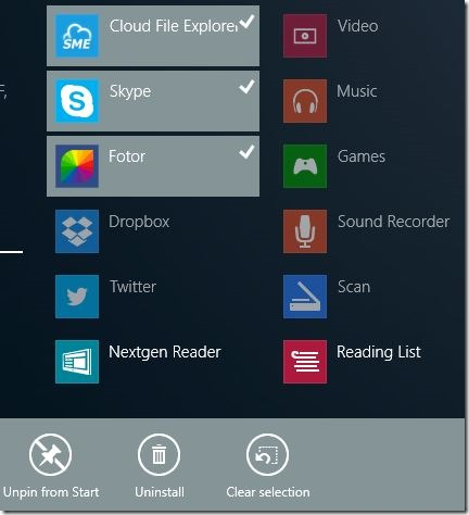 Uninstall Multiple Apps At Once In Windows 8.1 Step1