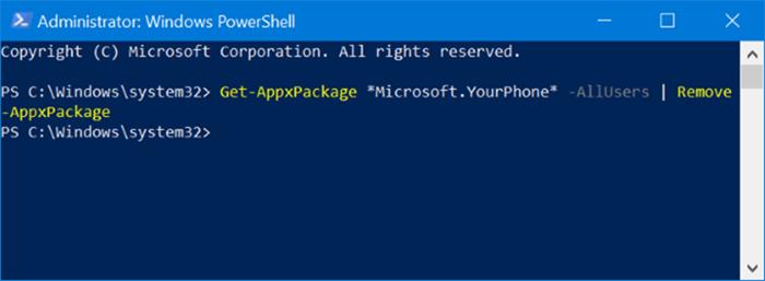 Desinstala o reinstala la aplicación del teléfono en Windows 10 pic1