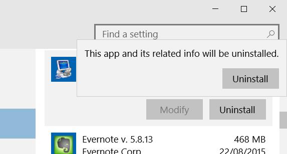 Desinstalar programas en Windows 10 step5