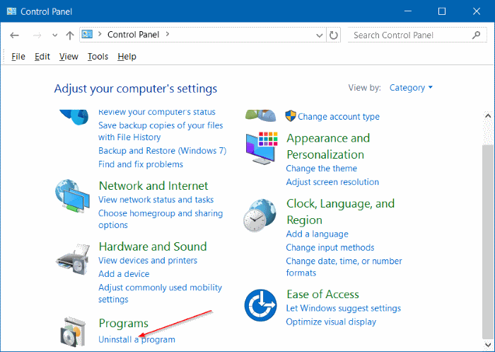 Desinstalar programas en Windows 10 step7