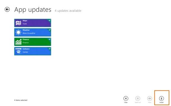 Update Metro Apps In Windows 8 Step4