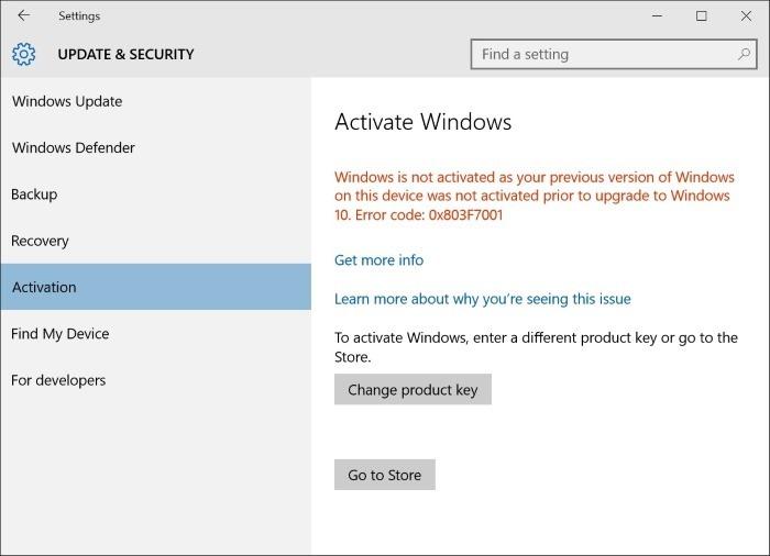 Actualizar Windows 10 Home a Pro sin clave step3